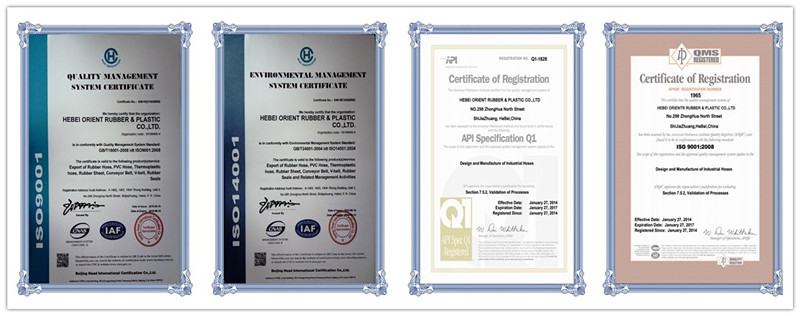 rubber hose certifications